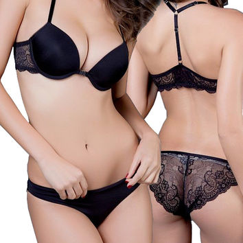 New 2015 Luxurious Elegance Vs Bra And Panty Set Y-line Underwear Set Female Sexy Lace Brand Push Up Secret Women Bra Set