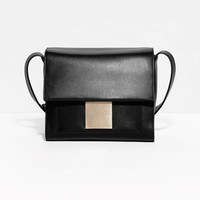 & Other Stories | Cross-Body Leather Bag | Black