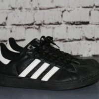 90s adidas sneakers three strip classic trainers shell toe black white shoes grunge  number 2