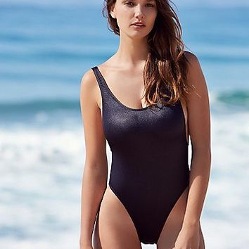 GNASH Swim Womens Carbon High Cut One Piece