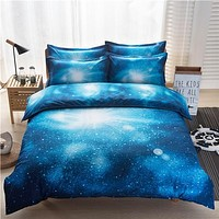 The Stars in the night sky bedding sets Home Textiles bedclothes sets reactive print duvet cover/ bed sheet/ pillowcase