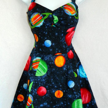 Outer space planet dress. Custom size