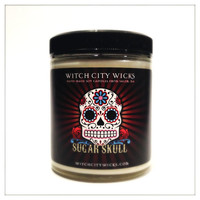 Sugar Skull buttercream scented soy candle 6 oz: unique candle gift idea