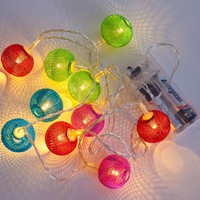 Lights.com | Browse More | Novelty | Gifts & Stocking Stuffers | Color Globe Mesh Series Battery String Lights by LampLust