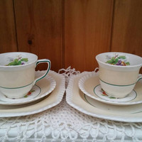 JOHNSON Bros trios,saucer and side plates/English china teaset