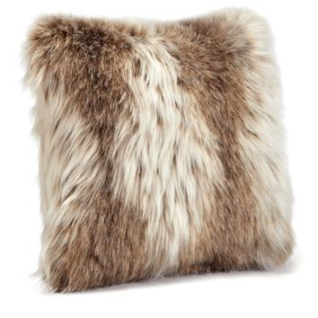 Russian Lynx Faux Fur Pillows by Fabulous Furs