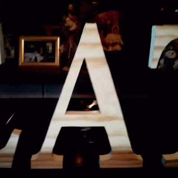 DIY unfinished letters cut sanded wood signs letters numbers projects home decor free standing letters