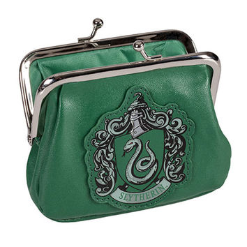 Universal Studios Harry Potter Crest Slytherin Coin Purse New With Tags