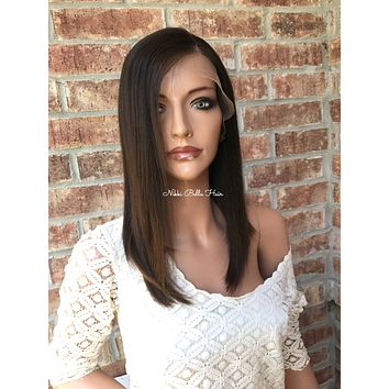 """Esther Human Hair Multi Parting lace front wig 12"""" 6174"""