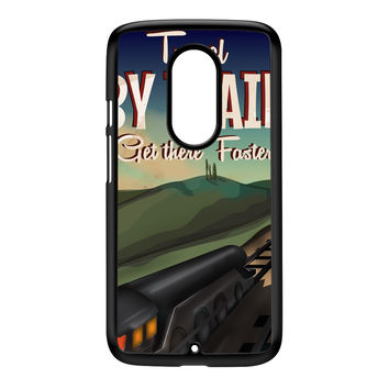 Travel by train Black Hard Plastic Case for Moto X2 by Nick Greenaway