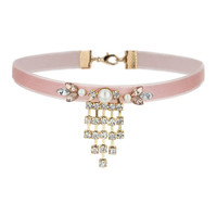 Pastel Pink Rhinestone Collar - Accessories - New In