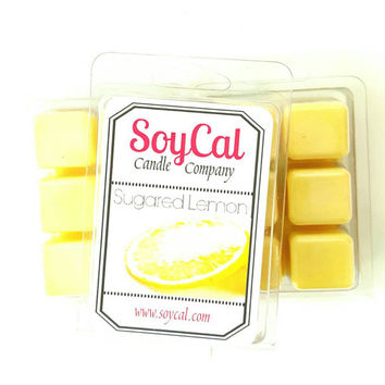 Wax melts - Sugared Lemon, scented wax tarts, organic candles, scented wax, wax melter, soy candles