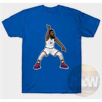 Joel Embiid Philly 76ers Basketball Tee Adult Unisex T Shirt