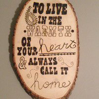 The Vow - Wood Burn Wall Decor