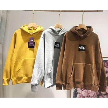 """The North Face"" Fashionable Women Men Casual Embroidery Hooded Velvet Sweater Top Sweatshirt"