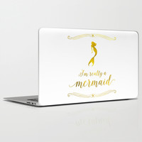 I'm really a mermaid Laptop & iPad Skin by Jaclyn Rose Design