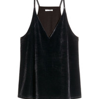 Velvet Camisole Top - from H&M