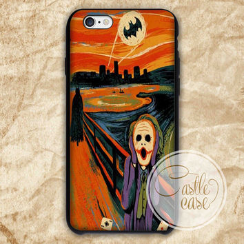 SCREAM BATMAN and JOKER iPhone 4/4S, 5/5S, 5C Series Hard Plastic Case