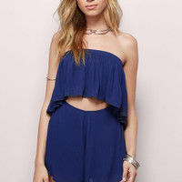 Ready to Rumble Strapless Romper