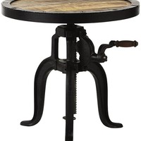 Industrial Adjustable-Height Accent Table - Accent Tables - Living Room - Furniture | HomeDecorators.com