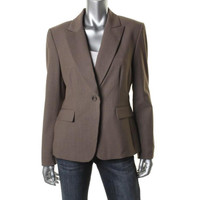 Tahari ASL Womens Ralph Long Sleeves Polyester One-Button Blazer