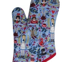 Collisionware Handmade Alice In Wonderland Oven Mitt