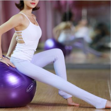 """lululemon"" Fashion Print Exercise Fitness Gym Yoga Running Leggings Sweatpants Light purple"
