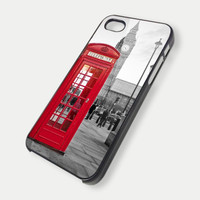 Red Phone Booth Britian Big Ben iPhone Case And Samsung Galaxy Case