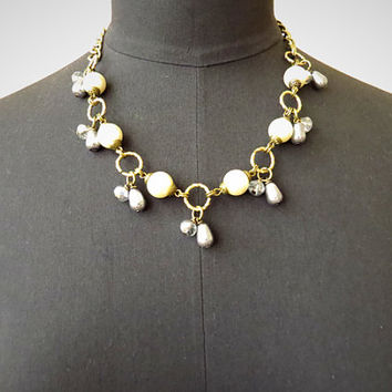 Chelsea. Pearl Statement Necklace