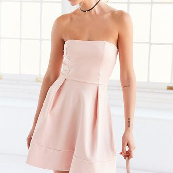 Silence   Noise Strapless Ponte Fit   Flare Mini Dress