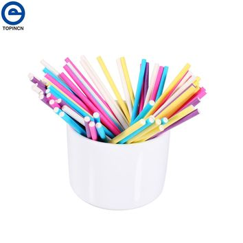 100pcs Colorful Pastry Tools 10CM Papen Cake Pop Sticks for Lollypop Lollipop Candy Chocolate Sugar Cudgel Pole Handle
