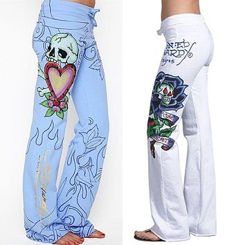 New Fashion Boho Women Floral Print Palazzo Trousers Ladies Wide Leg Flared Loose Pants Hot