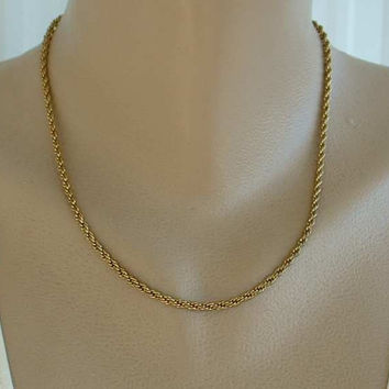 TRIFARI Rope Chain Necklace 18 Inches Vintage Jewelry