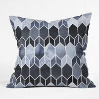 Elisabeth Fredriksson Blue Stained Glass Throw Pillow