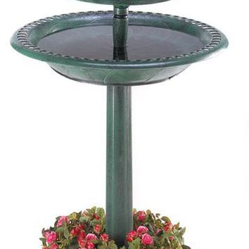 Verdigris Garden Solar Night Light Centerpiece