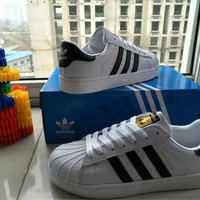 """""""Adidas Superstar"""" Fashion Casual Unisex Small White Shoes Couple Shell Head Plate Shoes"""