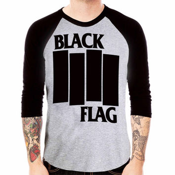 Black Flag Baseball T Shirt