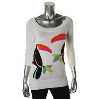 Kate Spade Womens Graphic 3/4 Sleeves Sweater
