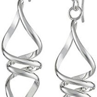 Sterling Silver Twisted Drop Earrings