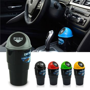 NEW car garbage can Car Trash Can Garbage Dust Case Holder Bin Outstanding