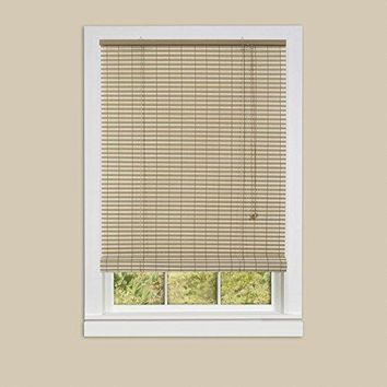 Ben&Jonah Collection Ashland Vinyl Roll-Up Blind 60x72 - Desert/Almond
