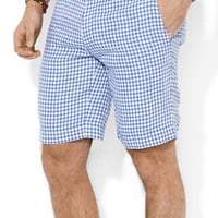 Polo Ralph Lauren Straight-Fit New Haven Checked Linen Shorts