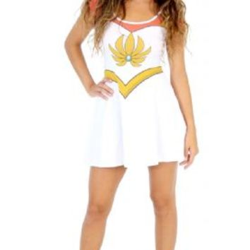 I Am She-Ra Princess of Power Juniors White Costume Skater Dress