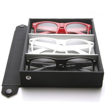 Limited Edition Nerd Clear Lens Horned Rim Glasses + Travel Case 2873