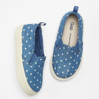 Gap Baby Chambray Dot Slip On Sneakers