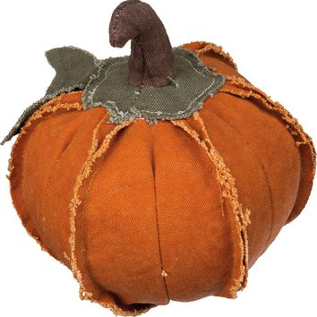 Small Orange Fabric Pumpkin