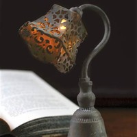 Petal Punchwork Lamp - Vintage Iron Desk Lamp