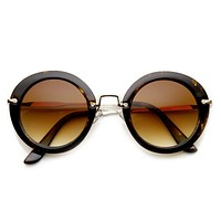Trendy Womens Fashion Oversize Round Sunglasses 9345