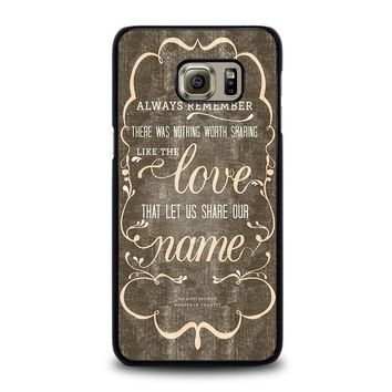 the avett brothers quotes samsung galaxy s6 edge plus case cover  number 1