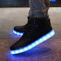 Hoverkicks Black Hightop LED Shoes Unisex